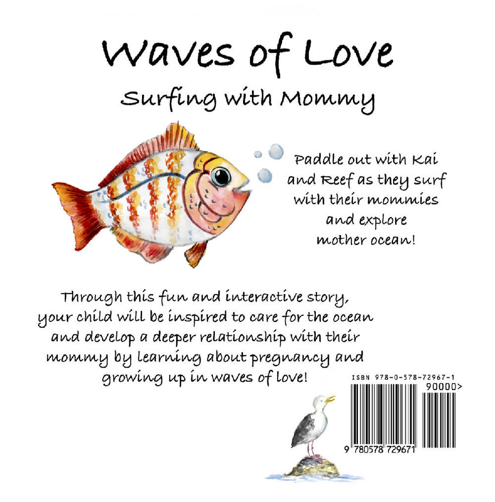 Waves of Love Surfing with Mommy- Children's Book