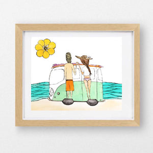 Load image into Gallery viewer, Love shack art print