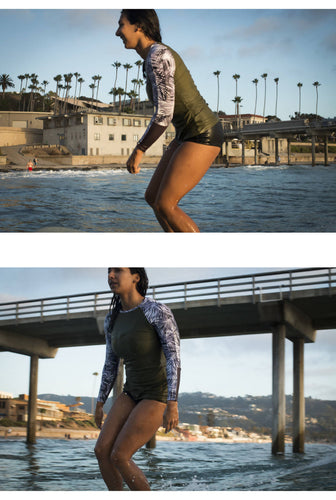 The TANI Rash Guard in Moonrise