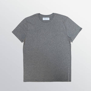 The Essential Tee is made from a blend of recycled plastic (that would otherwise end up in a landfill) and Better Grown Initiative Cotton