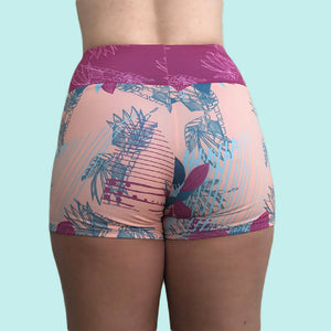 High Waisted Swim Short Back