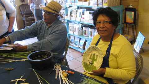 tohono o'odham baskets fred and della cruz