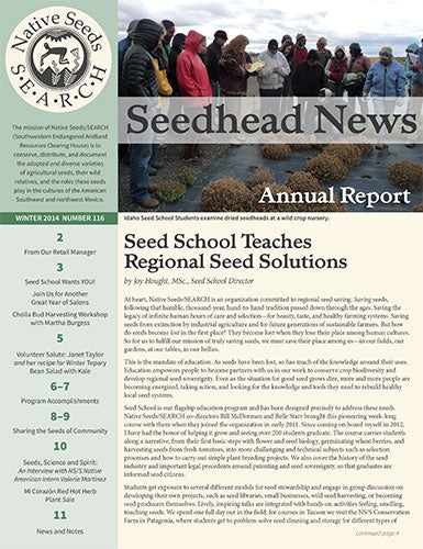 seedhead news 116 winter 2014