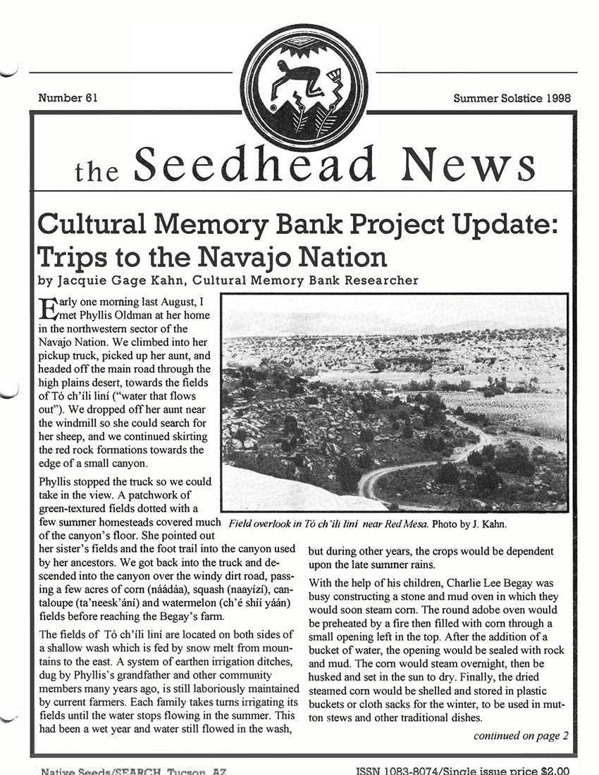 the seedhead news no 61 summer solstice 1998