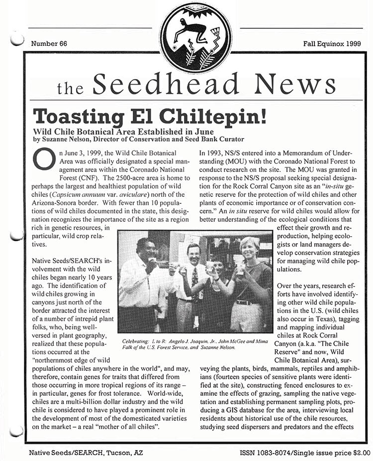 the seedhead news no.66 fall equinox 1999