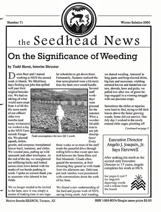 seedhead news number 71 winter solstice 2000