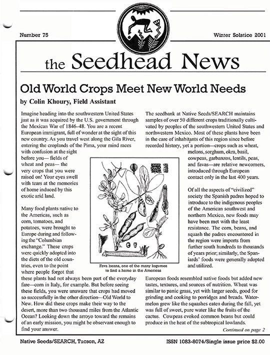 seedhead news no 75 winter solstice 2001