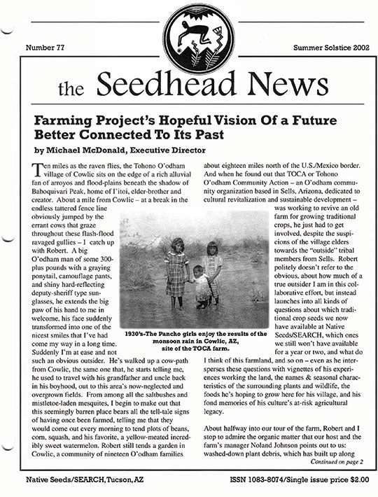 seedhead news number 77 summer solstice 2002