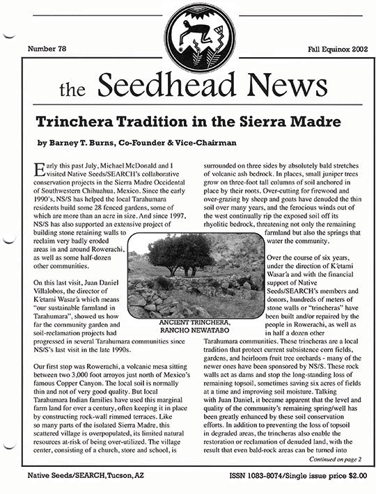 seedhead news number 78 fall equinox 2002