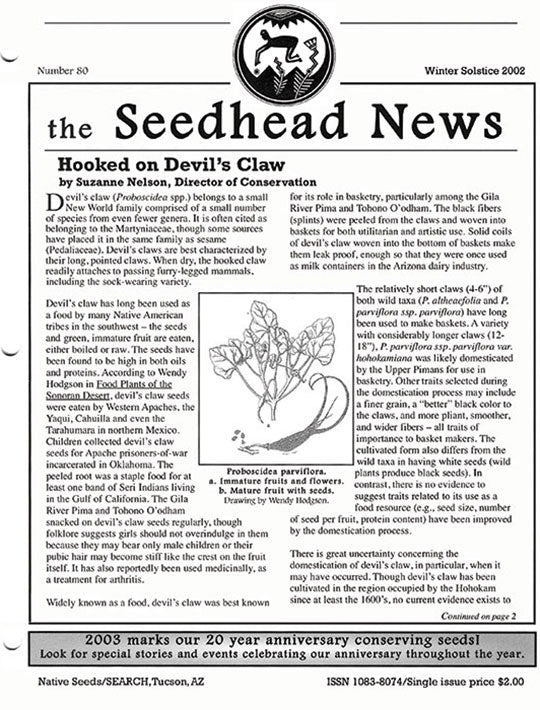 seedhead news number 80 winter solstice 2002