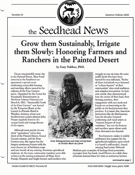 seedhead news summer solstice 2003 number 81