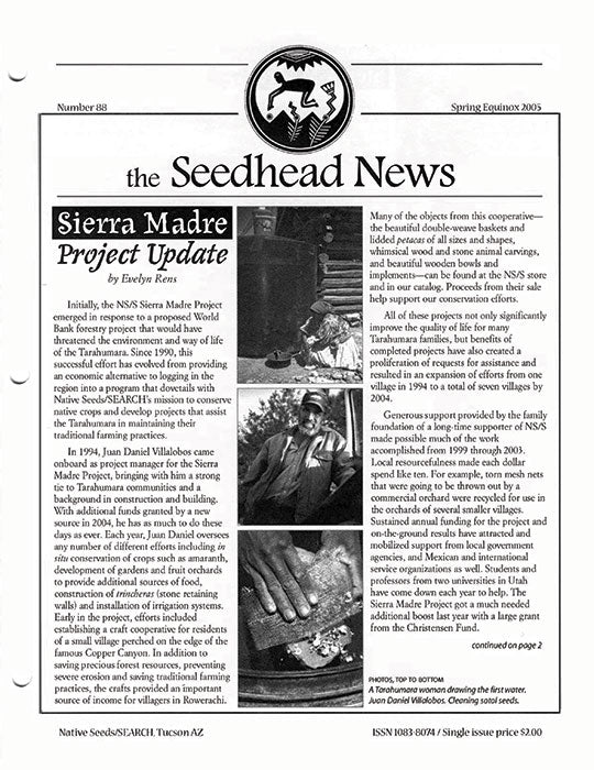 the seedhead news number 88 spring equinox 2005