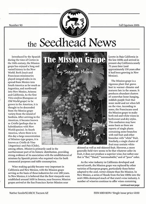 seedhead news number 90 fall equinox 2005