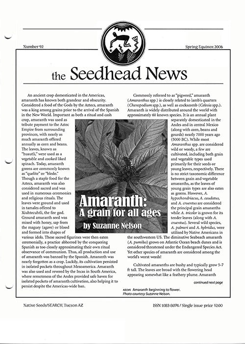 Spring Equionx 2006 native seeds search seedhead news