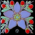 Wil Taylor Limited Edition Ceramic Tile - Wolfberry Blossom