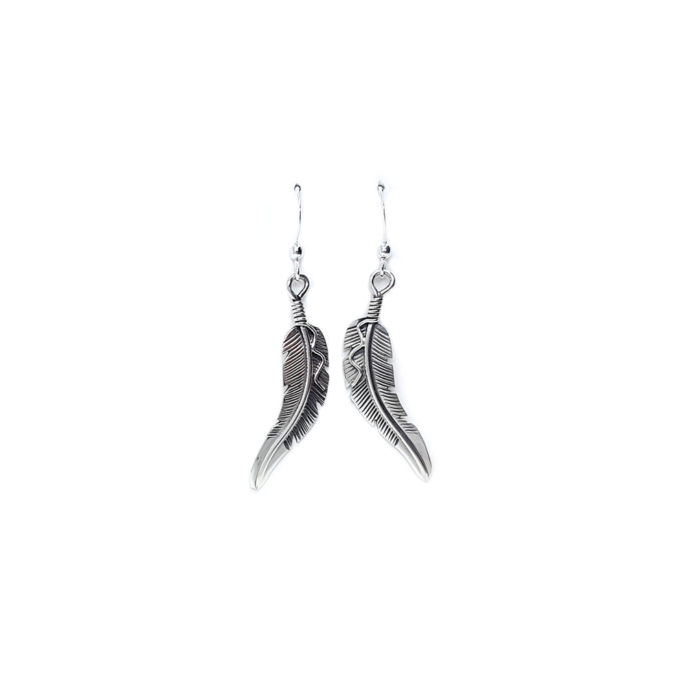 Curved Feather Earring