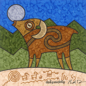 Bighorn Sings to the Moon