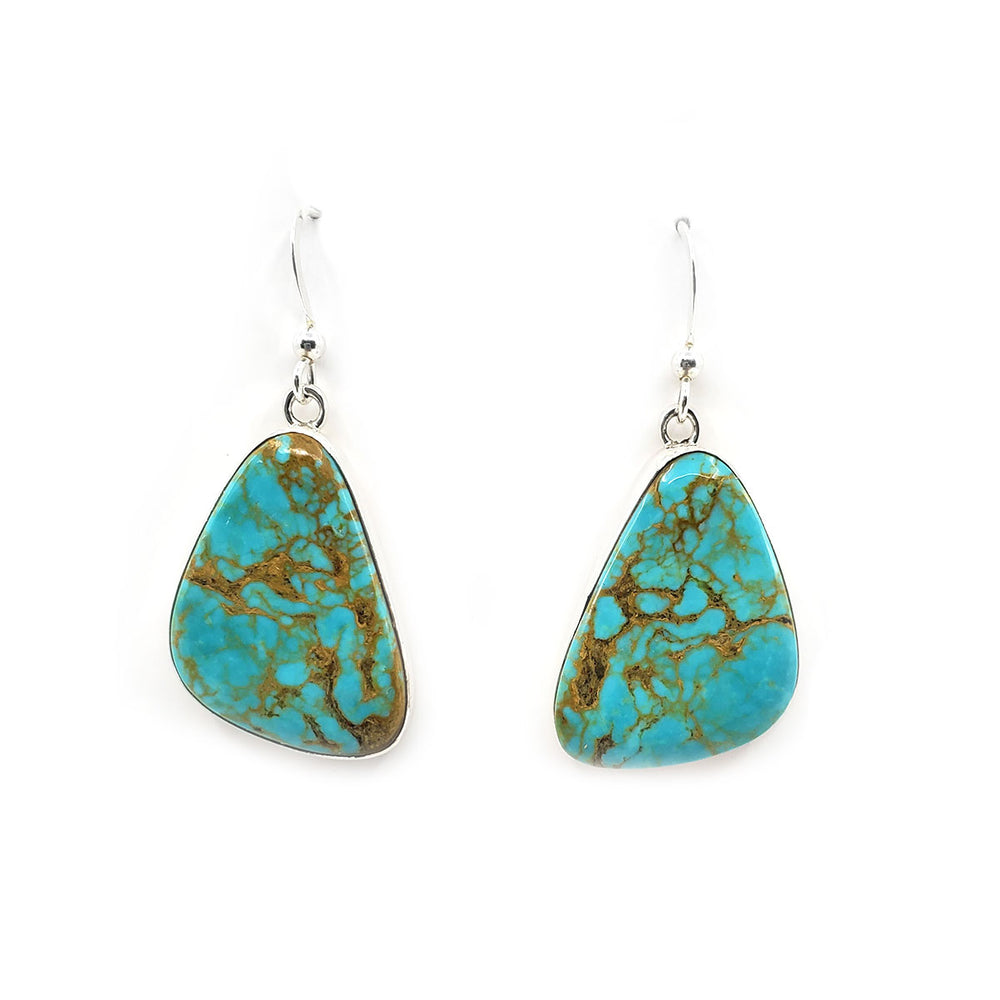 Elvira Chavez Turquoise Dangle Earrings