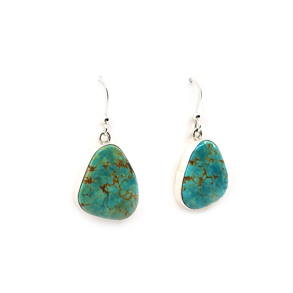 Elvira Chavez Turquoise Bezel Set Earrings