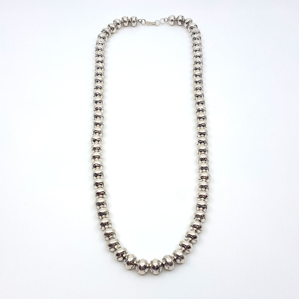 Larry Pinto: Sterling Silver Navajo Pearls - Exceptional Quality