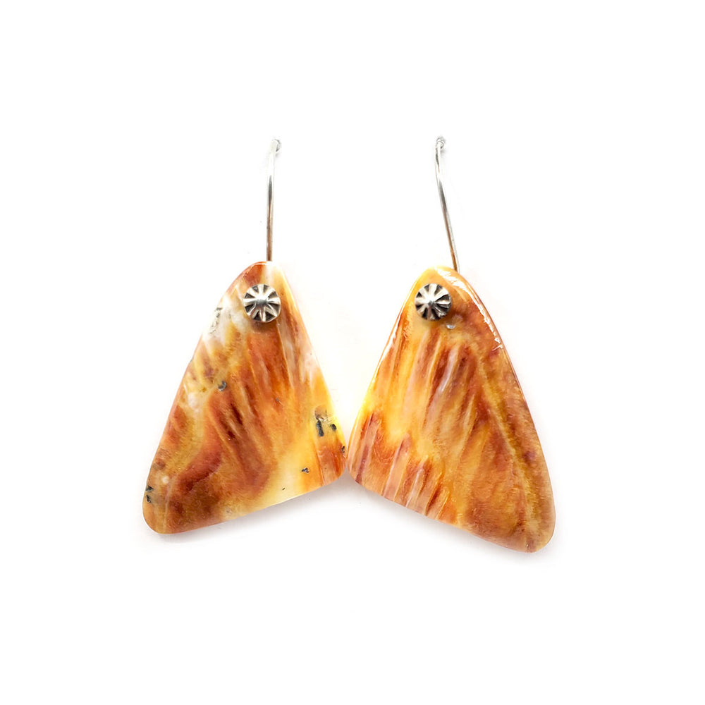 Spiny Oyster Shell Tab Earrings SMALL