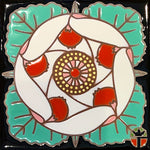 Wil Taylor Limited Edition Ceramic Tile - Desert 5 Spot Blossom