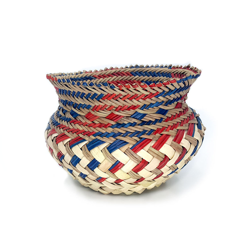 Tarahumara Jardinere Pot (Taller) - Red, Navy, Neutral