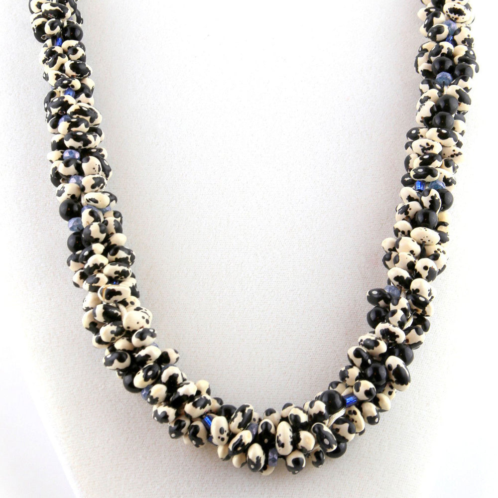 Black Calypso Native Seed Beads Necklace
