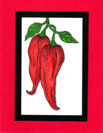 Chile Pepper Greeting Card Made by Rebecca Craig