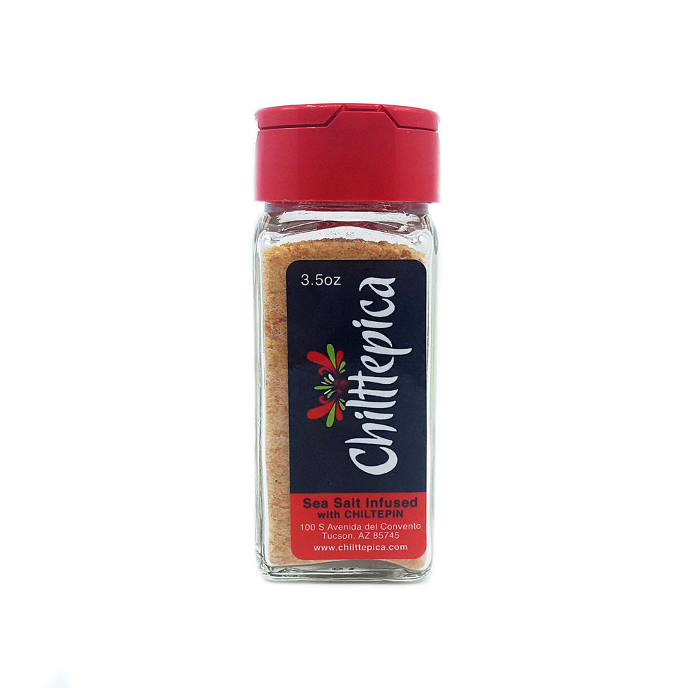 Sea Salt Infused with Chiltepin - 3.5 oz. Jar