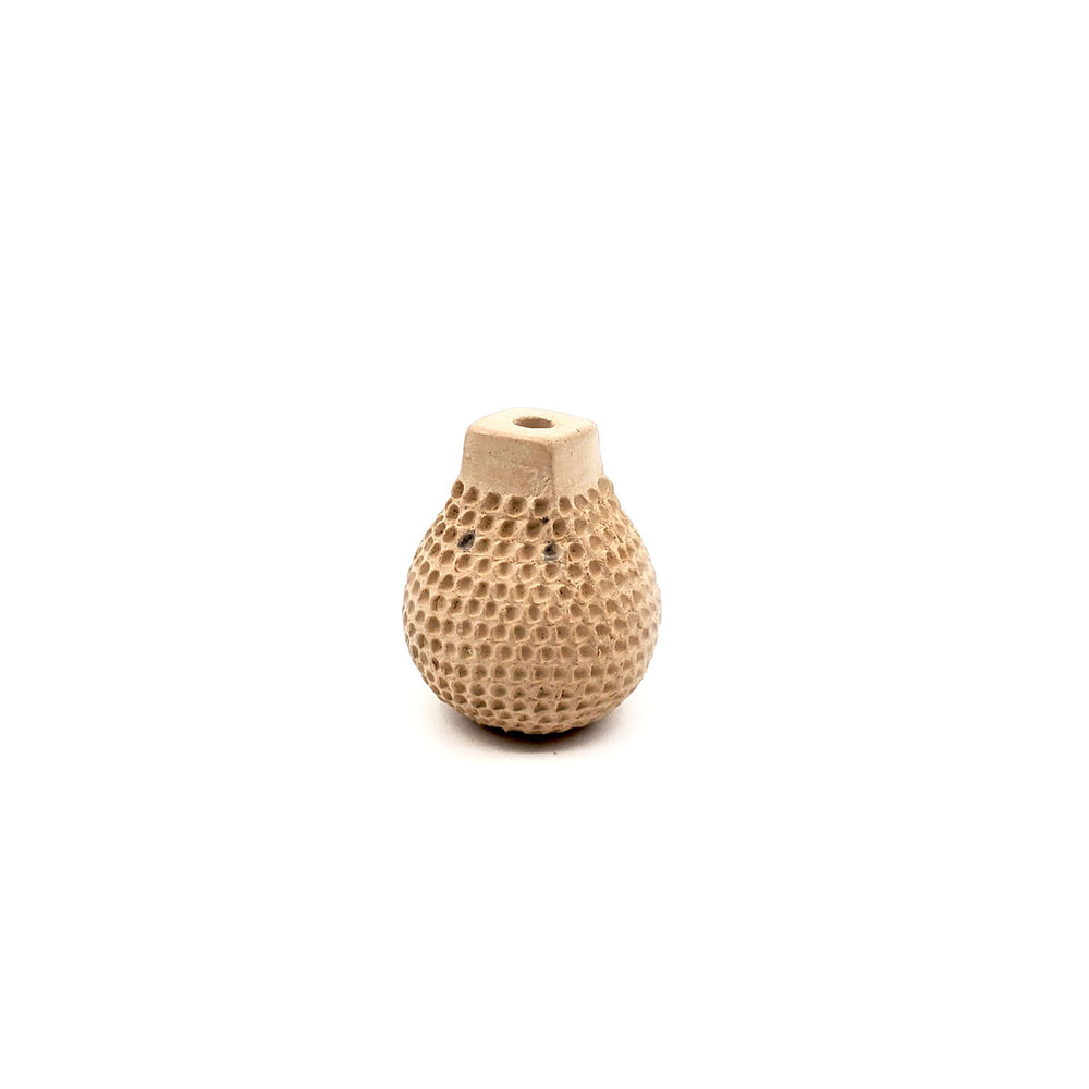 Square Top Dimpled Seed Pot - Beige