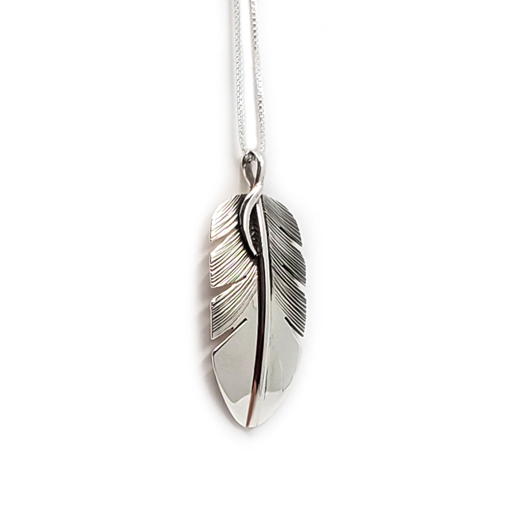 Feather Pendant Necklace - Navajo