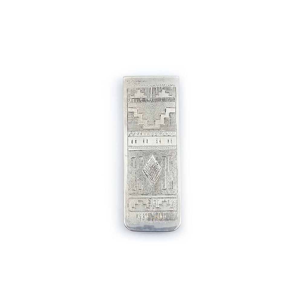 sterling silver native american money clip howard sice