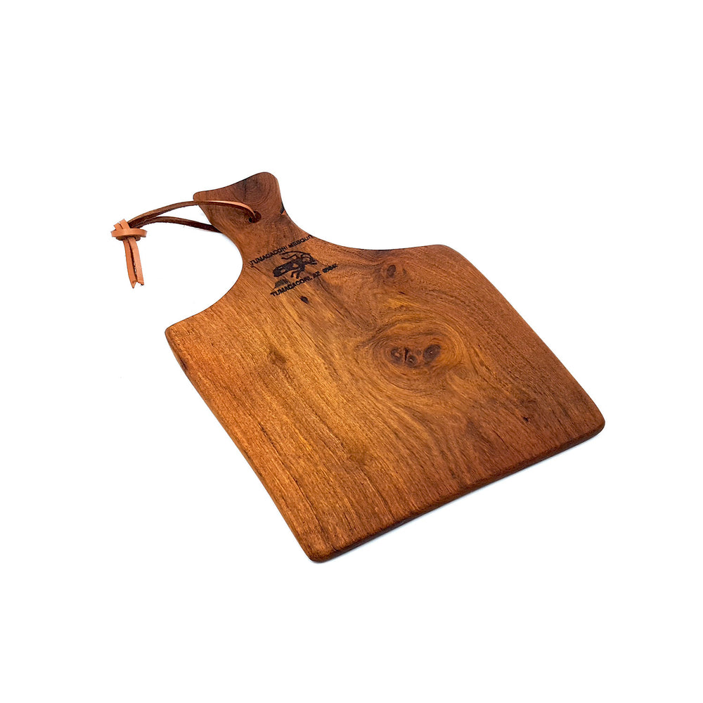 small handcrafted mesquite wood cutting board