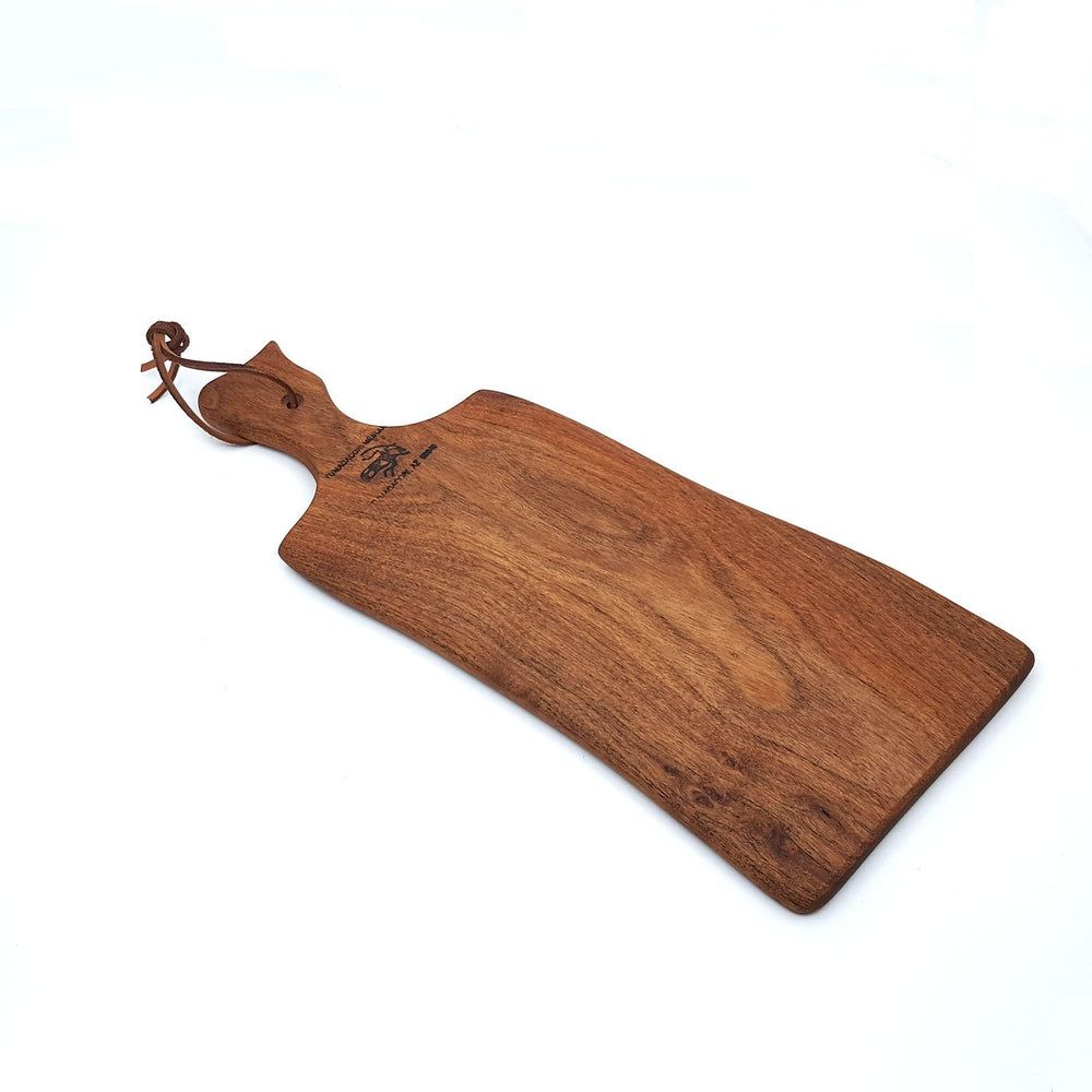 rectangular wood mesquite cutting board