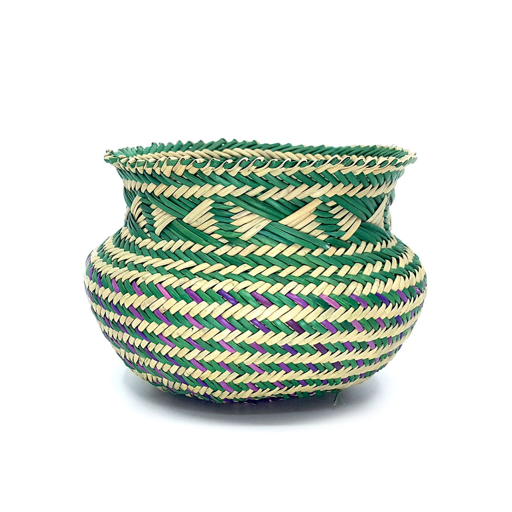Tarahumara Woven Pots - Blues & Greens