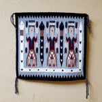Navajo Rug - Three Yei Figures with Three Snakes