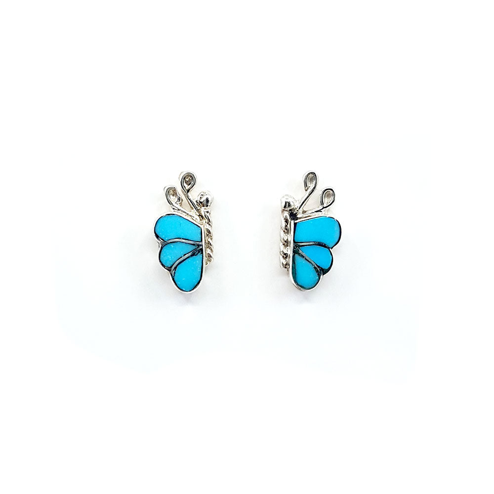 Zuni Butterfly Earrings: Turquoise