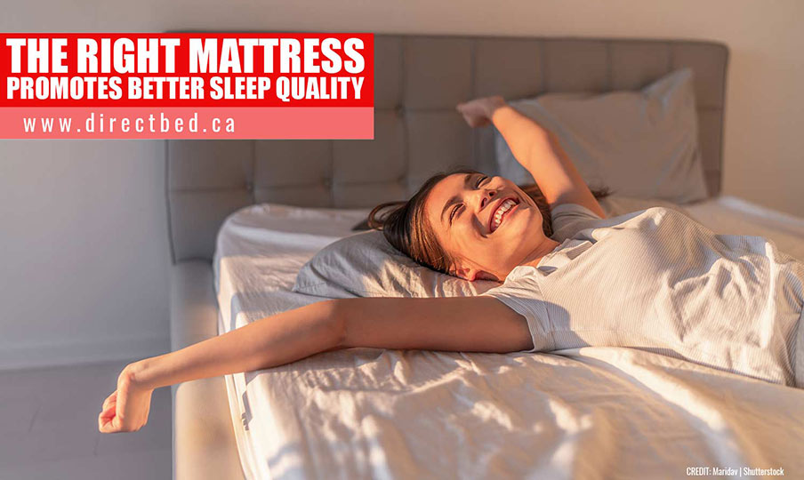 The right mattress promotes better sleep quality