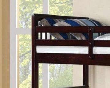Image of Espresso Wooden Storage Drawers Bunk Bed