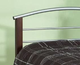 Image of Silver Dark Cherry Posts Metal Bed