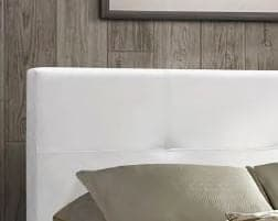 Image of White PU Bed