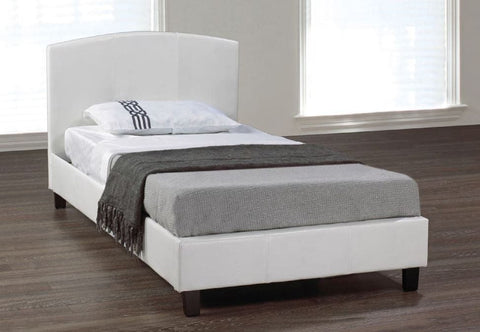 Image of White Modern PU Bed
