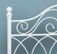 Image of White Beautiful Metal Bed