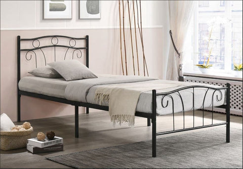 Image of Black Metal Bed