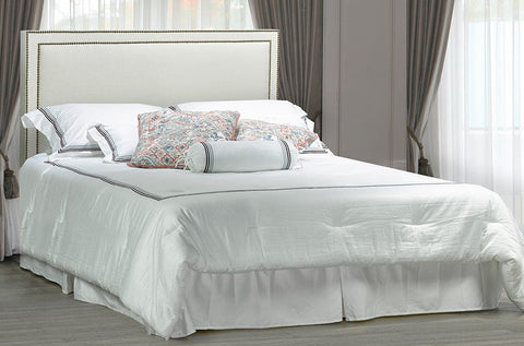 Image of Bonded Leather Headboard and Bed - DirectBed
