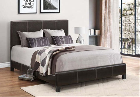 Image of Espresso PU Contrast Stitching Bed