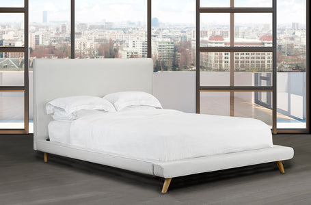 Bonded Leather Platform Bed and Headboard - DirectBed