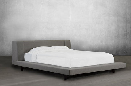 Linen Platform Bed and Headboard - DirectBed