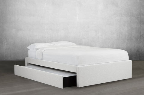 Image of Bonded Leather Platform Bed with Trundle - DirectBed